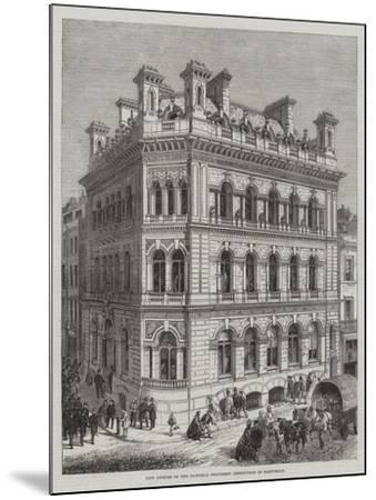 New Offices of the National Provident Institution in Eastcheap-R. Dudley-Mounted Giclee Print