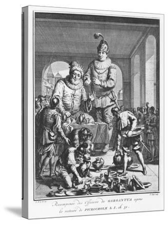 Gargantua Rewarding Officers after the Victory of Picrochole from 'The Life of Gargantua and Pantag-Pierre Tanje-Stretched Canvas Print