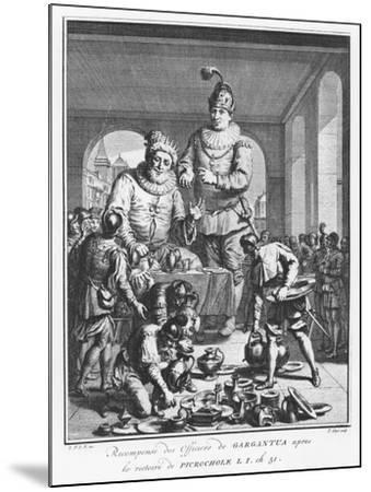 Gargantua Rewarding Officers after the Victory of Picrochole from 'The Life of Gargantua and Pantag-Pierre Tanje-Mounted Giclee Print