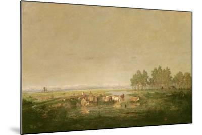 Marshland in Les Landes, C.1853-Pierre Etienne Theodore Rousseau-Mounted Giclee Print