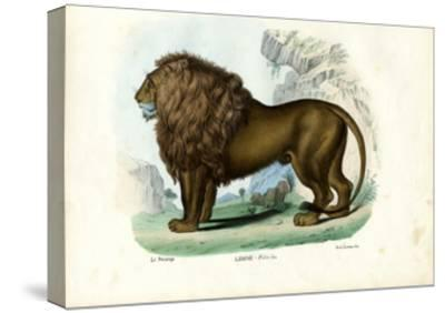 Lion, 1863-79-Raimundo Petraroja-Stretched Canvas Print
