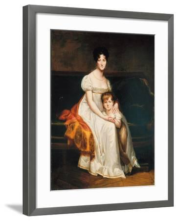 Portrait of a Lady, Said to Be Louise Catherine Eleonore De La Plaigne, 1814-Pierre-Paul Prud'hon-Framed Giclee Print
