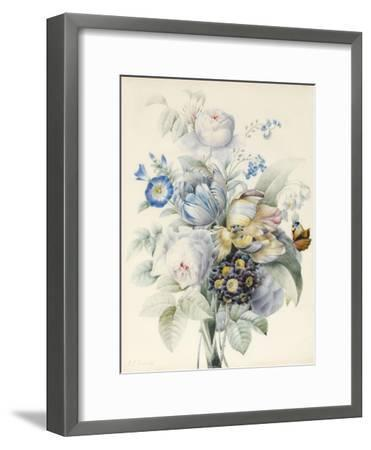 A Bunch of Flowers Including Roses-Pierre Joseph Redoute-Framed Giclee Print