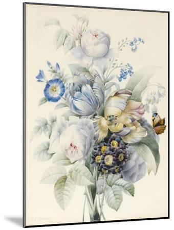 A Bunch of Flowers Including Roses-Pierre Joseph Redoute-Mounted Giclee Print