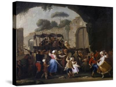 Celebrations in Honor of the Madonna of the Arch, 1778-Pietro Fabris-Stretched Canvas Print