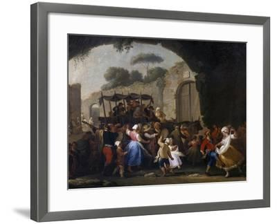 Celebrations in Honor of the Madonna of the Arch, 1778-Pietro Fabris-Framed Giclee Print