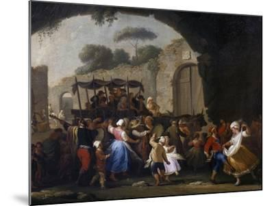 Celebrations in Honor of the Madonna of the Arch, 1778-Pietro Fabris-Mounted Giclee Print
