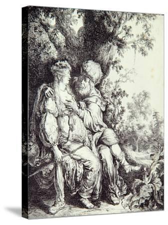 Judah and Tamar-Pieter Lastman-Stretched Canvas Print