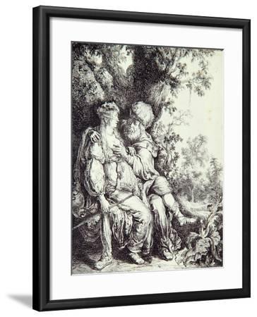Judah and Tamar-Pieter Lastman-Framed Giclee Print