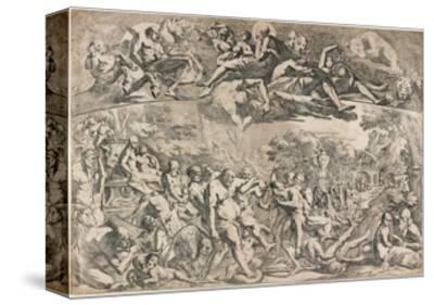Allegory of Autumn, C. 1642-1644-Pietro Testa-Stretched Canvas Print