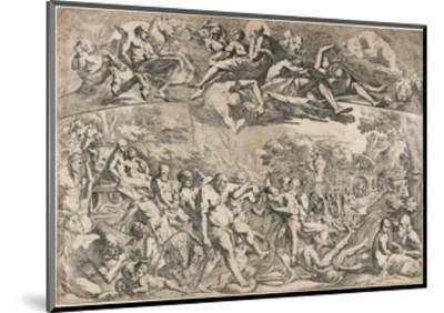 Allegory of Autumn, C. 1642-1644-Pietro Testa-Mounted Giclee Print