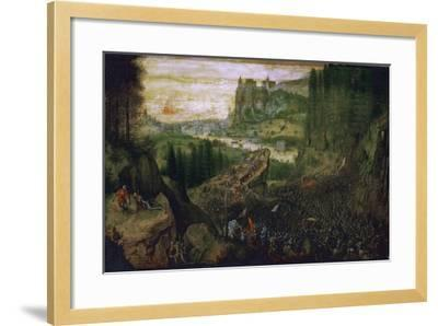 The Suicide of Saul, 1562-Pieter Bruegel the Elder-Framed Giclee Print