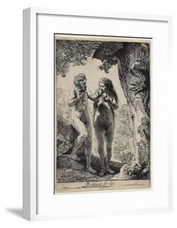 Adam and Eve, 1638-1658-Rembrandt van Rijn-Framed Giclee Print