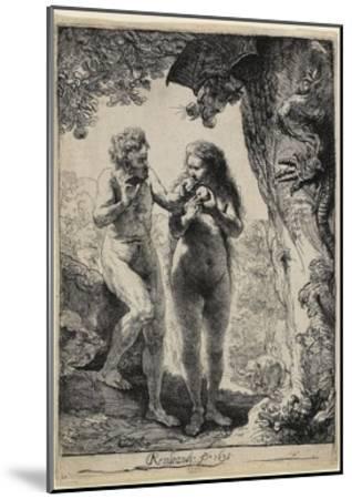 Adam and Eve, 1638-1658-Rembrandt van Rijn-Mounted Giclee Print