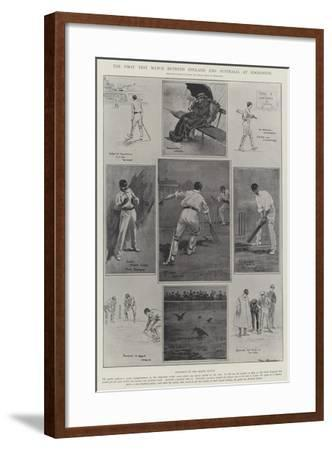 The First Test Match Between England and Australia at Edgbaston-Ralph Cleaver-Framed Giclee Print