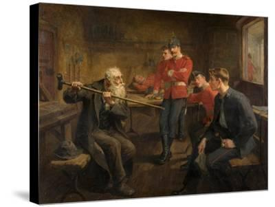 The Veteran, 1896-Ralph Hedley-Stretched Canvas Print