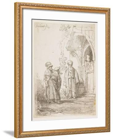 Jacob and Laban, 1641-Rembrandt van Rijn-Framed Giclee Print