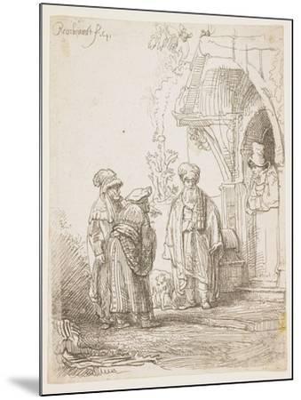 Jacob and Laban, 1641-Rembrandt van Rijn-Mounted Giclee Print