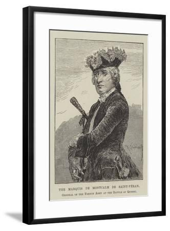 The Marquis De Montcalm De Saint-Veran, General of the French Army at the Battle of Quebec-Richard Caton Woodville II-Framed Giclee Print