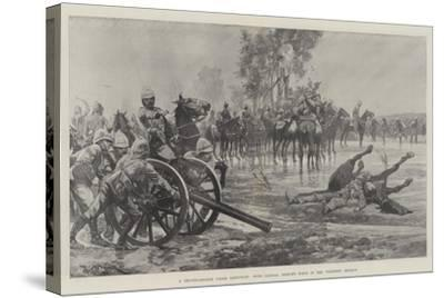 A Reconnaissance under Difficulty, with General French's Force in the Colesberg District-Richard Caton Woodville II-Stretched Canvas Print