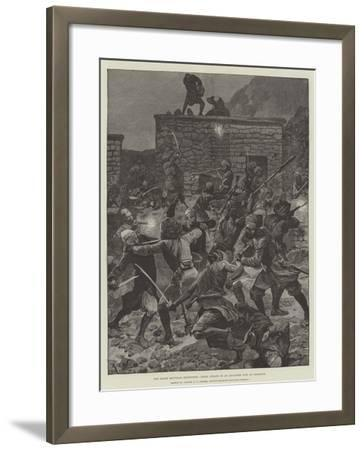 The Black Mountain Expedition, Ghazi Attack on an Advanced Post at Ghazikot-Richard Caton Woodville II-Framed Giclee Print