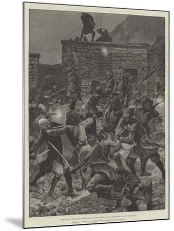 The Black Mountain Expedition, Ghazi Attack on an Advanced Post at Ghazikot-Richard Caton Woodville II-Mounted Giclee Print