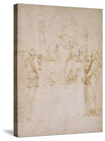The Coronation of the Virgin-Raphael-Stretched Canvas Print