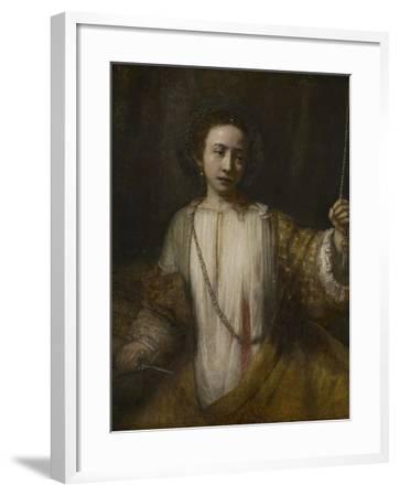 Lucretia, 1666-Rembrandt van Rijn-Framed Giclee Print