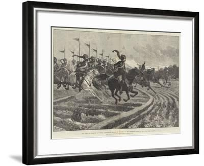 The Camp of Exercise at Delhi-Richard Caton Woodville II-Framed Giclee Print