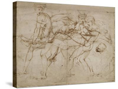 The Death of Adonis-Raphael-Stretched Canvas Print