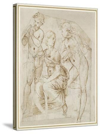 Group of Musicians-Raphael-Stretched Canvas Print