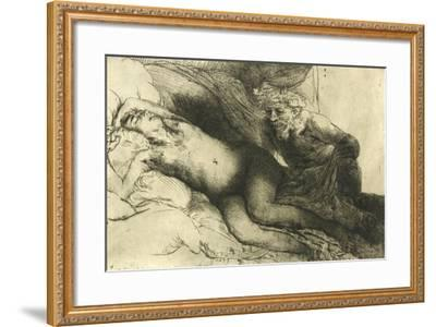 Jupiter and Antiope, C.1659-Rembrandt van Rijn-Framed Giclee Print