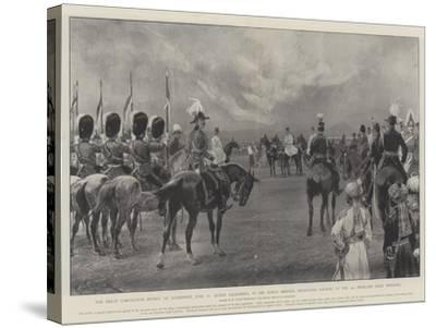 The Great Coronation Review at Aldershot-Richard Caton Woodville II-Stretched Canvas Print