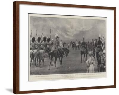The Great Coronation Review at Aldershot-Richard Caton Woodville II-Framed Giclee Print