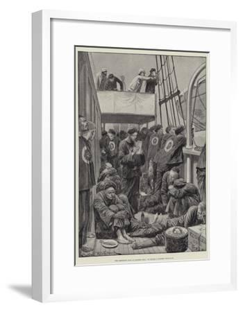 The Impending War in Eastern Asia, on Board a Chinese Troop-Ship-Richard Caton Woodville II-Framed Giclee Print