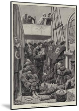 The Impending War in Eastern Asia, on Board a Chinese Troop-Ship-Richard Caton Woodville II-Mounted Giclee Print