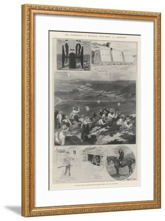 The Experiments in Practical Field-Firing at Aldershot-Ralph Cleaver-Framed Giclee Print