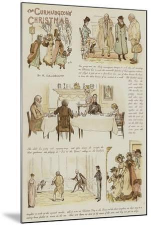 The Curmudgeons' Christmas-Randolph Caldecott-Mounted Giclee Print