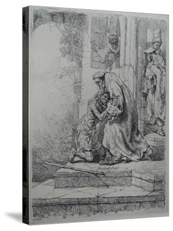 The Return of the Prodigal Son, 1636-Rembrandt van Rijn-Stretched Canvas Print
