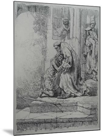 The Return of the Prodigal Son, 1636-Rembrandt van Rijn-Mounted Giclee Print