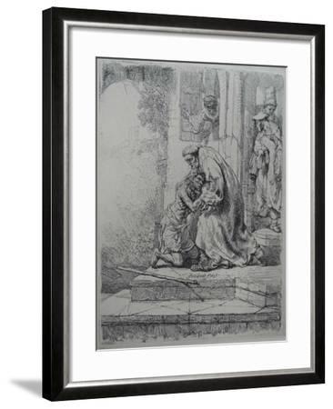 The Return of the Prodigal Son, 1636-Rembrandt van Rijn-Framed Giclee Print
