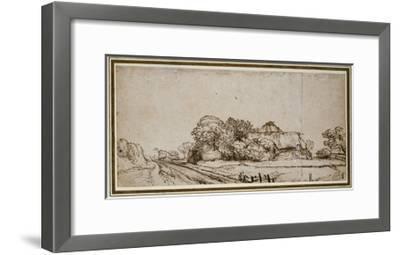 Farm Buildings Beside a Road-Rembrandt van Rijn-Framed Giclee Print