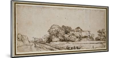 Farm Buildings Beside a Road-Rembrandt van Rijn-Mounted Giclee Print