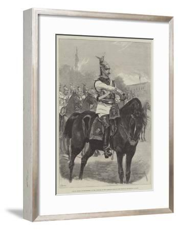 Prince Henry of Battenberg, in the Uniform of the Garde-Du-Corps of the Prussian Household Cavalry-Richard Caton Woodville II-Framed Giclee Print