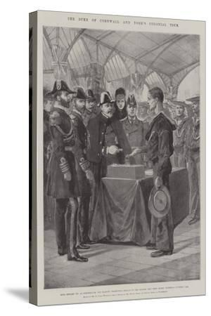 The Duke of Cornwall and York's Colonial Tour-Richard Caton Woodville II-Stretched Canvas Print