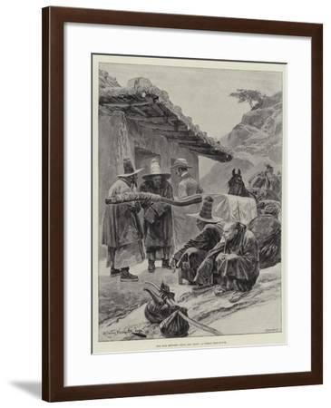 The War Between China and Japan, a Corean Rest-House-Richard Caton Woodville II-Framed Giclee Print