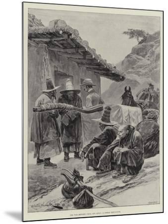 The War Between China and Japan, a Corean Rest-House-Richard Caton Woodville II-Mounted Giclee Print