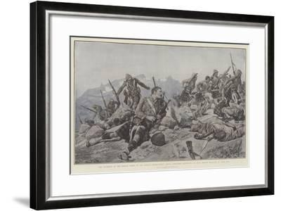 The Storming of the Dargai Ridge by the Gordon Highlanders-Richard Caton Woodville II-Framed Giclee Print