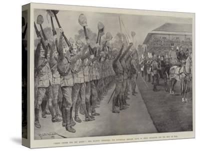 Three Cheers for the Queen!-Richard Caton Woodville II-Stretched Canvas Print
