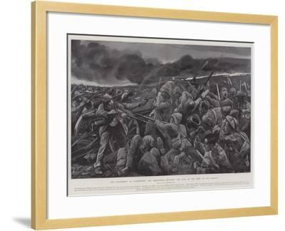 The Engagement at Vlakfontein, the Derbyshires Retaking the Guns at the Point of the Bayonet-Richard Caton Woodville II-Framed Giclee Print